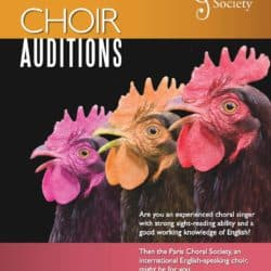 PCS audition poster