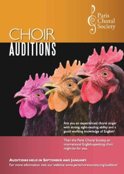 PCS audition poster